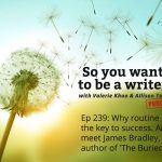 Ep 239 Why routine is the key to success as a writer. And meet James Bradley, author of 'The Buried Ark'.
