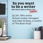 Ep 241 Meet Ali Berg, co-author of 'The Book Ninja'