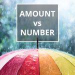 Q&A: Amount vs number