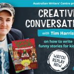 Watch Creative Conversations with bestselling author of funny books for kids Tim Harris